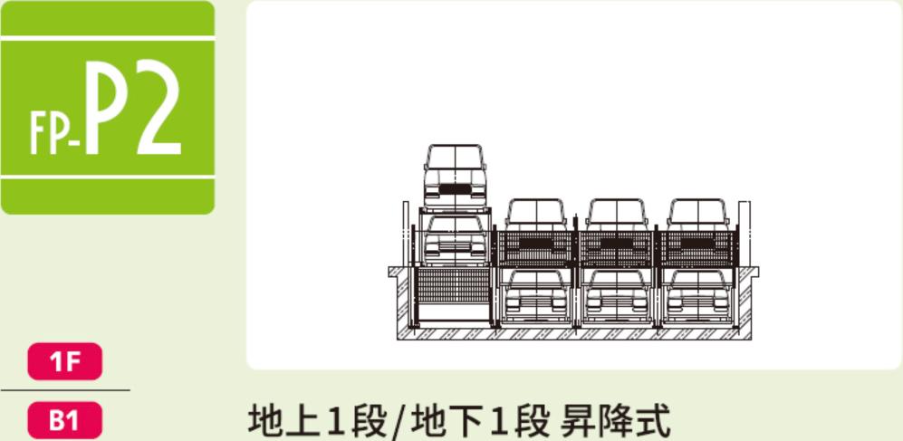 FP-P2 地上1段/地下1段 昇降式