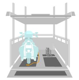 自動二輪車・自転車の駐輪場としての活用イメージ